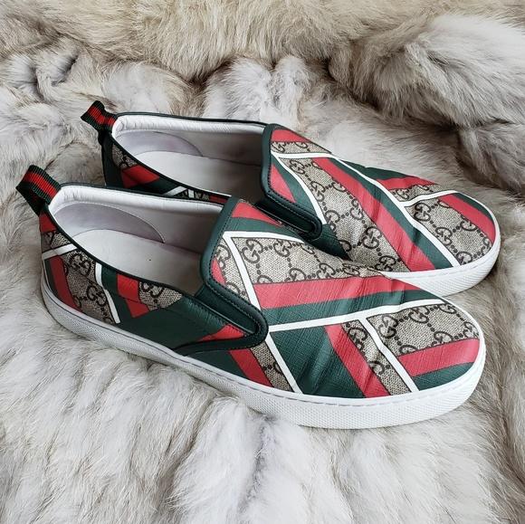 1acc1dea385 Gucci Other - Gucci GG Monogram Slip on Dublin Sneaker 8.5M Men